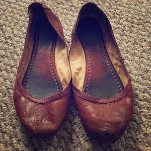 Shoes - Frye Carson ballet flats, size 8.5, cognac color